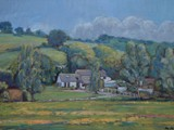 Valley farmhouse - acrylic - private collection