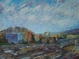 Farmyard - acrylic - sold