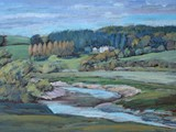 Glen Usk - acrylic - private collection