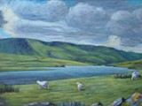 Llyn Egnant - acrylic - private collection