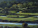 River Usk and tributaries - acrylic - private collection